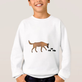 Mantrailer with trace Belgian shepherd dog Sweatshirt