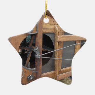 Manual machine used to shell the corn ceramic ornament