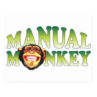 Manual Monkey. Postcard