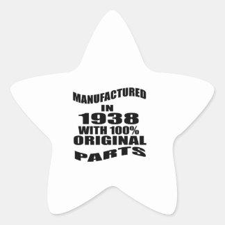 Manufactured  In 1938 With 100 % Original Parts Star Sticker