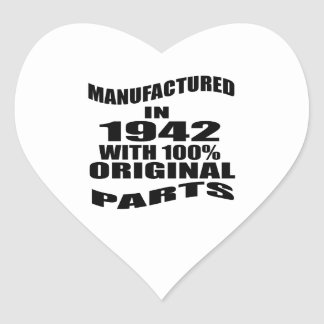Manufactured  In 1942 With 100 % Original Parts Heart Sticker