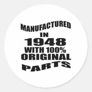 Manufactured  In 1948 With 100 % Original Parts Classic Round Sticker
