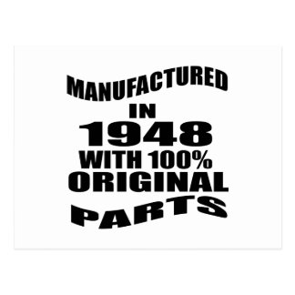 Manufactured  In 1948 With 100 % Original Parts Postcard