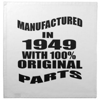 Manufactured  In 1949 With 100 % Original Parts Napkin
