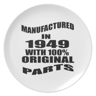 Manufactured  In 1949 With 100 % Original Parts Party Plate