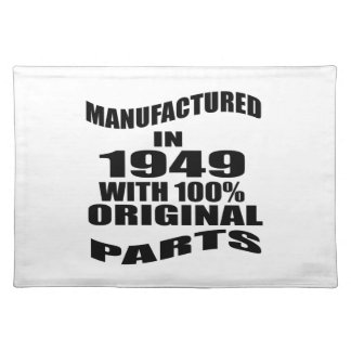 Manufactured  In 1949 With 100 % Original Parts Placemats