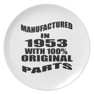 Manufactured  In 1953 With 100 % Original Parts Plate
