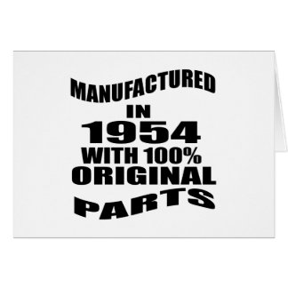 Manufactured  In 1954 With 100 % Original Parts Card