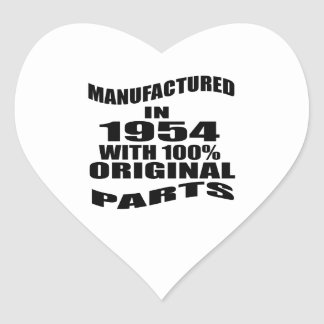 Manufactured  In 1954 With 100 % Original Parts Heart Sticker