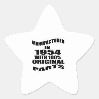 Manufactured  In 1954 With 100 % Original Parts Star Sticker