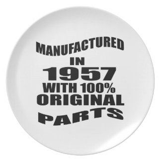 Manufactured  In 1957 With 100 % Original Parts Plate