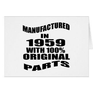 Manufactured  In 1959 With 100 % Original Parts Card