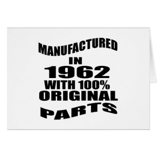 Manufactured  In 1962 With 100 % Original Parts Card