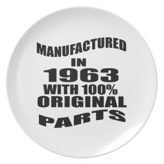 Manufactured  In 1963 With 100 % Original Parts Plate