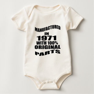 Manufactured  In 1971 With 100 % Original Parts Baby Bodysuit