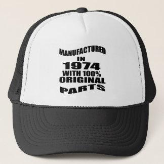 Manufactured  In 1974 With 100 % Original Parts Trucker Hat