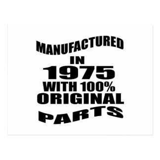 Manufactured  In 1975 With 100 % Original Parts Postcard