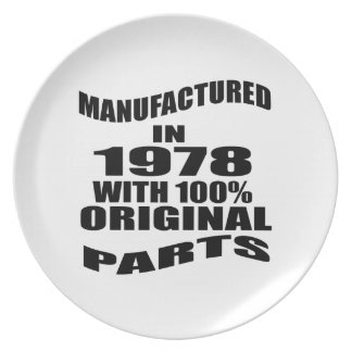Manufactured  In 1978 With 100 % Original Parts Plate