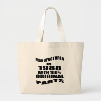 Manufactured  In 1988 With 100 % Original Parts Large Tote Bag
