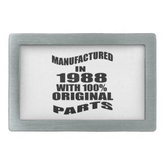 Manufactured  In 1988 With 100 % Original Parts Rectangular Belt Buckles