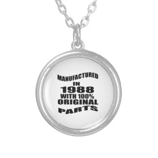 Manufactured  In 1988 With 100 % Original Parts Silver Plated Necklace