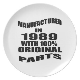 Manufactured  In 1989 With 100 % Original Parts Plate