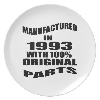 Manufactured  In 1993 With 100 % Original Parts Party Plates