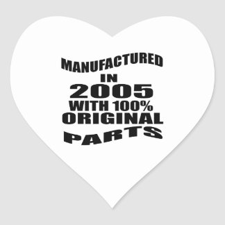 Manufactured  In 2005 With 100 % Original Parts Heart Sticker