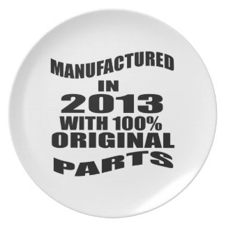 Manufactured  In 2013 With 100 % Original Parts Plates