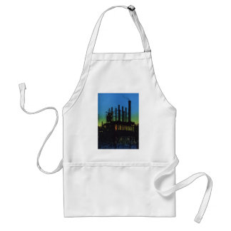 Manufacturing Factory at Sunset, Vintage Business Standard Apron