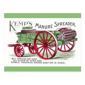 Manure Spreader Machine Postcard