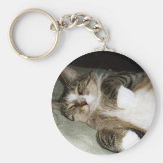 Manx Cat Keychain
