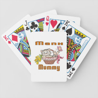 Manx Cat Mom Bicycle Playing Cards