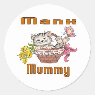 Manx Cat Mom Classic Round Sticker