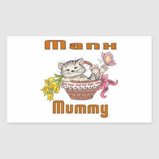 Manx Cat Mom Rectangular Sticker