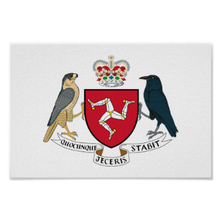 Manx coat of arms poster