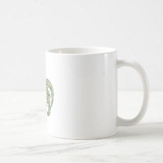 Manx Loaghtan Sheep Head Mono Line Coffee Mug