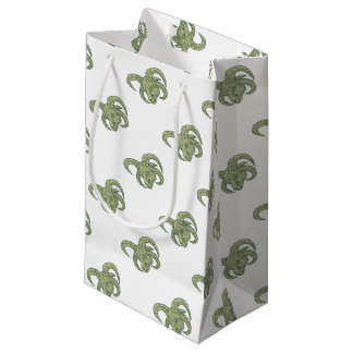 Manx Loaghtan Sheep Head Mono Line Small Gift Bag