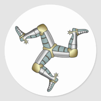 Manx Three Legs of Man Classic Round Sticker