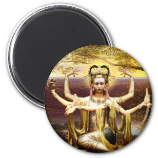 Many Armed Kwan Yin Magnet
