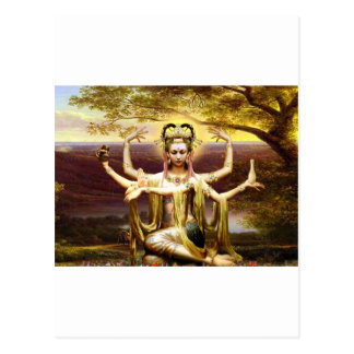 Many Armed Kwan Yin Postcard