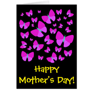 "Many Artistic Butterflies + ""Happy Mother's Day!"" Card"