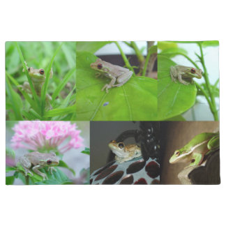 Many baby Tree Frogs Doormat