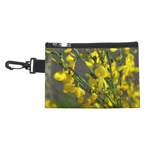 Many beautiful yellow flowers accessory bags