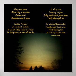 Many broken dreams...Poem/Lyrics Poster-by Me Poster