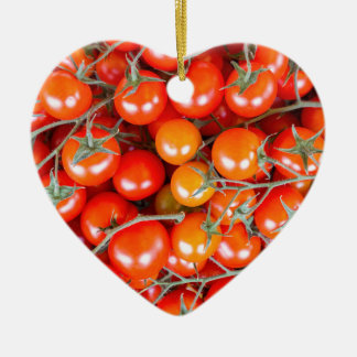 Many bunches of red vine tomatoes ceramic ornament