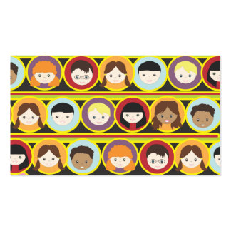 Many Children Collage Babysitting Business Card