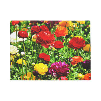 Many Colors Of Ranunculus Doormat