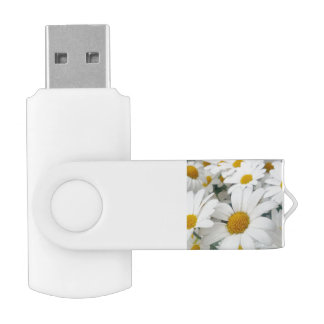 many Daisies Swivel USB 2.0 Flash Drive