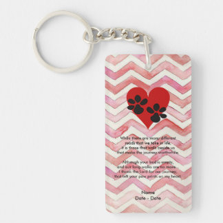 Many Different Roads Pet Memorial Keychain